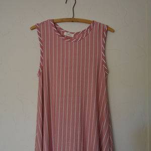 Pink & White Stripe Tank Dress